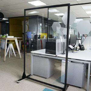 1800mm Freestanding Full Height Screens - Mobile